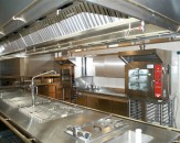 Stainless steel hoods, tables, shelves and lockers