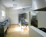 Stainless steel tables, shelves and lockers