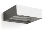 Stainless steel wall mounted ventilation hood, box type