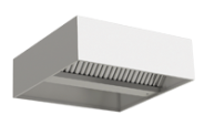Stainless steel central ventilation hood, box type