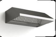 Настенный вентиляционный колпак из нержавеющей стали, спереди опущен