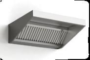 Настенный вентиляционный колпак из нержавеющей стали, поднятый спереди