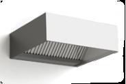 Nerūdijančio plieno priesienis ventiliacijos gaubtas dėžės tipo