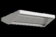 Nerūdijančio plieno centrinis ventiliacijos gaubtas pakeltais priekiais