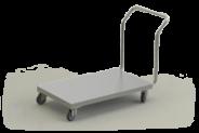 Nerūdijančio plieno platforminis transportavimo vežimėlis