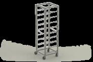 Nerūdijančio plieno vežimėliai indų plovimo dėžėms