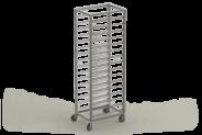 Nerūdijančio plieno vežimėlis 600x400 dėžėms