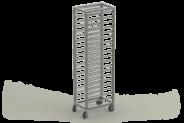 Nerūdijančio plieno vežimėlis GN 1/1 konteineriams