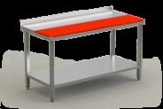 Nerūdijančio plieno vienpusis mėsos, žuvies paruošimo stalas su lentyna