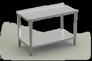 Nerūdijančio plieno stalas prie indaplovės išėjimo