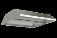 Nerūdijančio plieno centrinis ventiliacijos gaubtas nuleistais priekiais